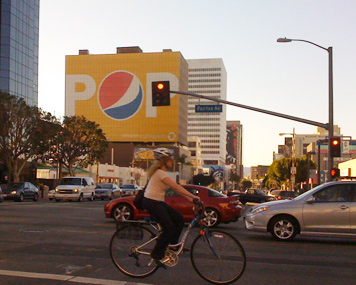 Los Angeles billboards pepsi billboard ad building wrap